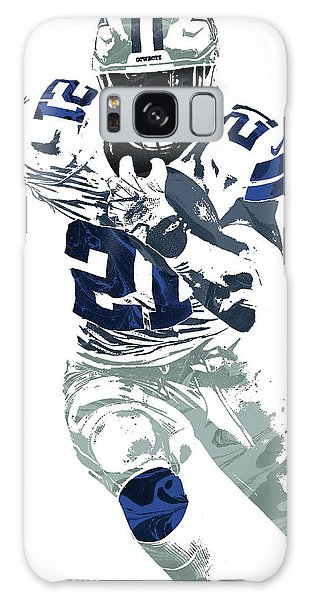 Ezekiel Elliott Dallas Cowboys Pixel Art 6 Galaxy Case by Joe Hamilton