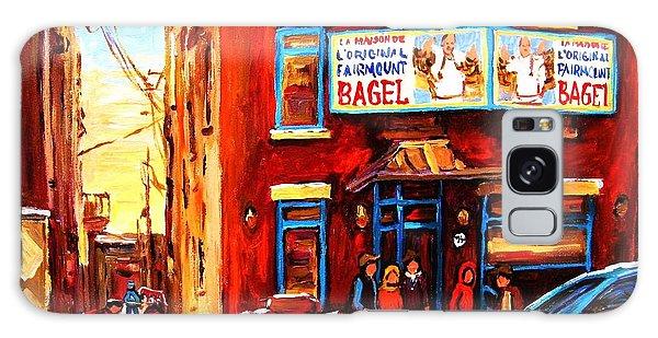 Fairmount Bagel In Winter Galaxy Case by Carole Spandau