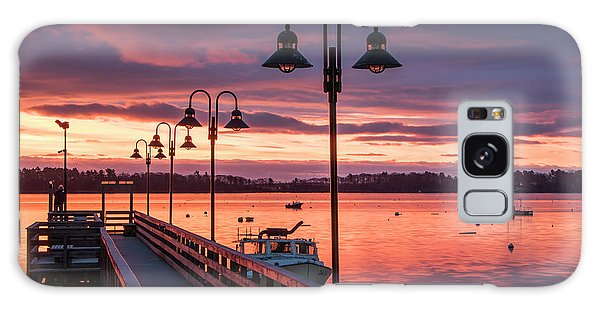 Falmouth Town Landing Sunrise Galaxy Case