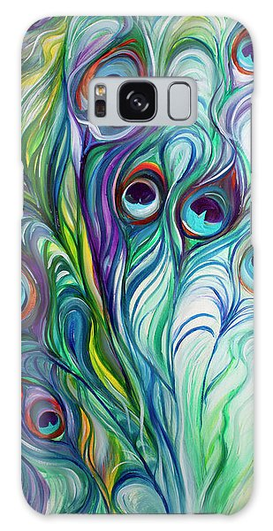 Feathers Peacock Abstract Galaxy Case