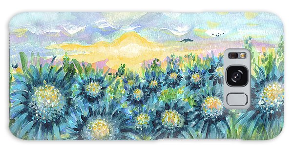 Field Of Blue Flowers Galaxy Case