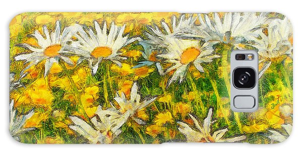 Field Of Daisies Galaxy Case