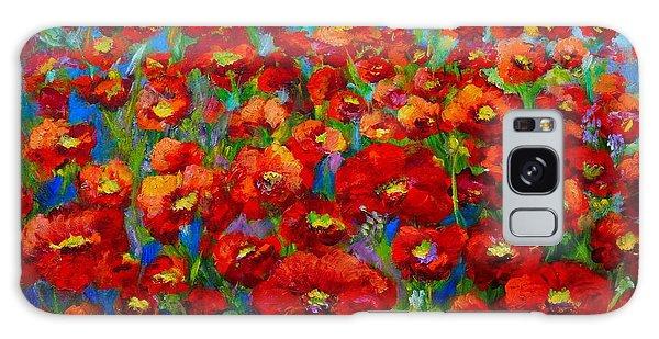Field Of Poppies Galaxy Case by Mary Jo Zorad