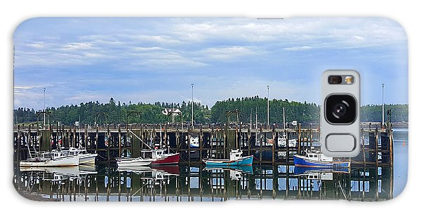 Fishing Boats - Beaver Harbour Galaxy Case