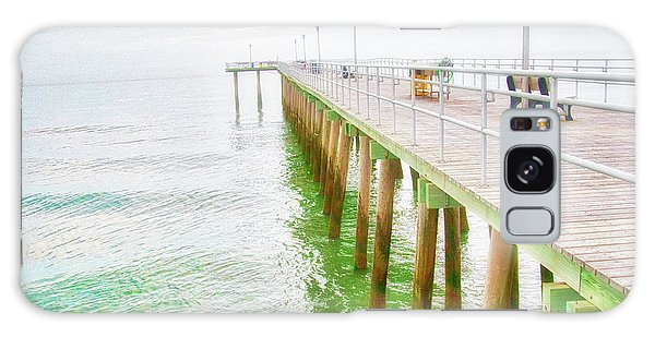 Fishing Pier, Margate, New Jersey Galaxy Case