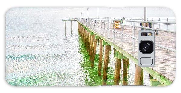Fishing Pier, Margate, New Jersey Galaxy Case