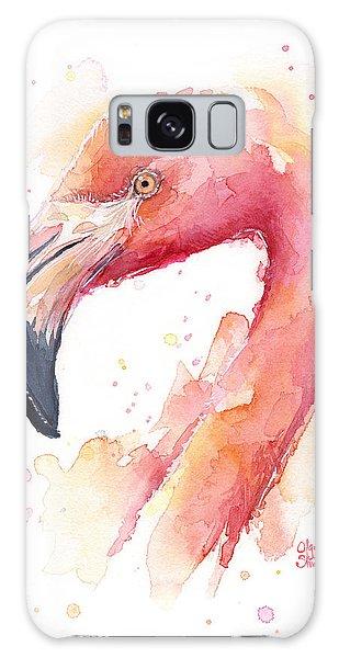 Flamingo Watercolor Galaxy Case