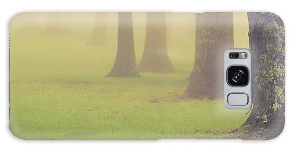 Galaxy Case featuring the photograph Foggy Trees Pano by Joye Ardyn Durham