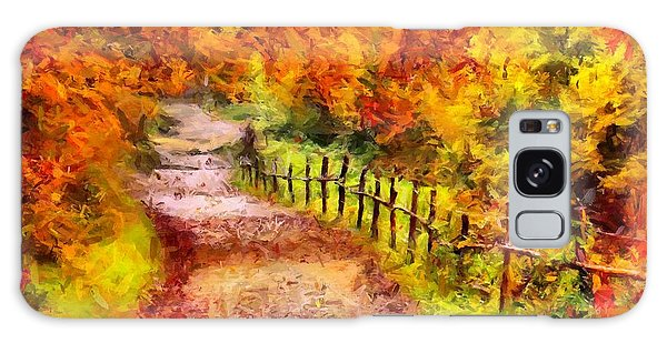Fall Foliage Path 2 Galaxy Case