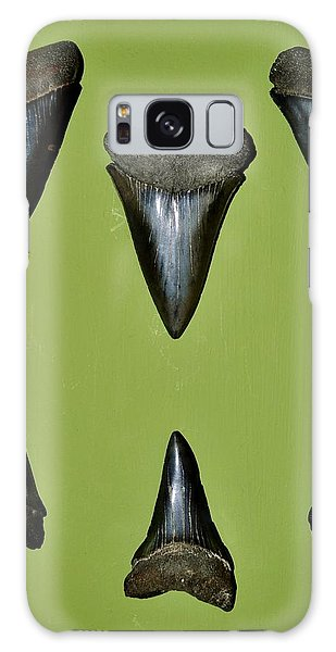Fossil Mako Shark Teeth Galaxy Case by Werner Lehmann