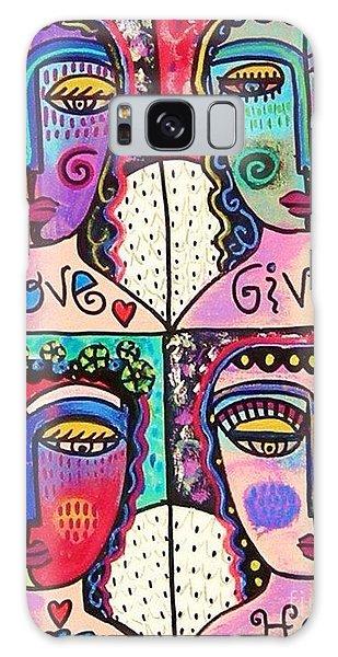 Four Gemstone Angels  Galaxy Case