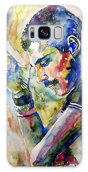 Realistic Galaxy Case - Freddie Mercury Watercolor by Suzann Sines