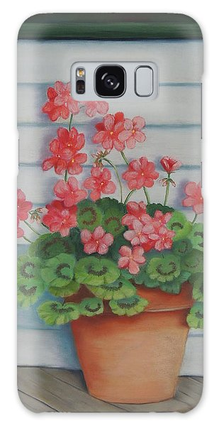 Front Porch Geraniums Galaxy Case