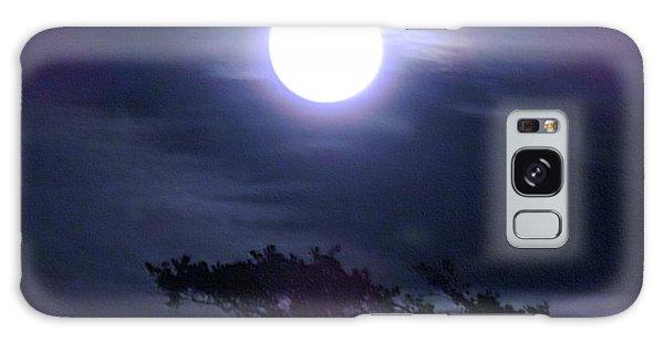 Full Moon Falling Galaxy Case