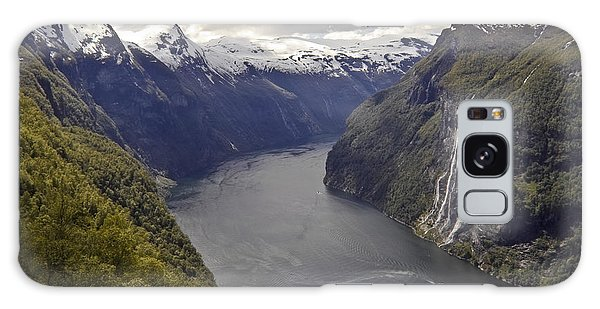Galaxy Case featuring the photograph Geiranger Fjord by Heiko Koehrer-Wagner