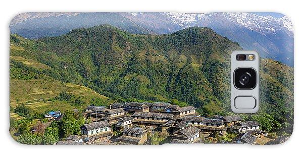Ghandruk Village In The Annapurna Region Galaxy Case