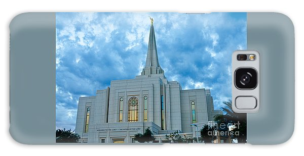 Gilbert Arizona Lds Temple Galaxy Case by Nick Boren