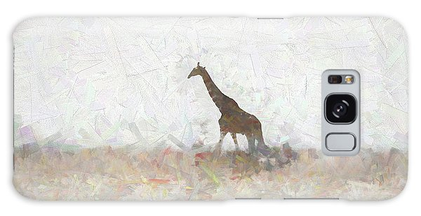 Giraffe Abstract Galaxy Case by Ernie Echols