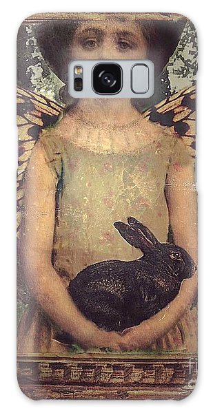 Girl In The Garden Galaxy Case by Alexis Rotella