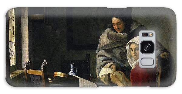 Jan Vermeer Galaxy Case - Girl Interrupted At Her Music by Jan Vermeer