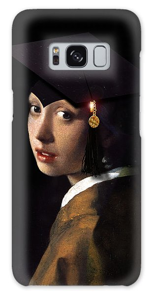Girl With A Pearl Earring Galaxy Case - Girl With The Grad Cap by Gravityx9   Designs
