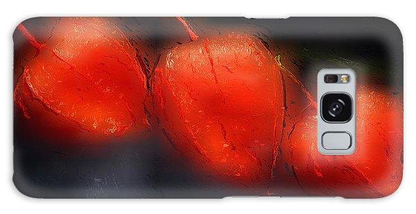 Glowing Orange Galaxy Case