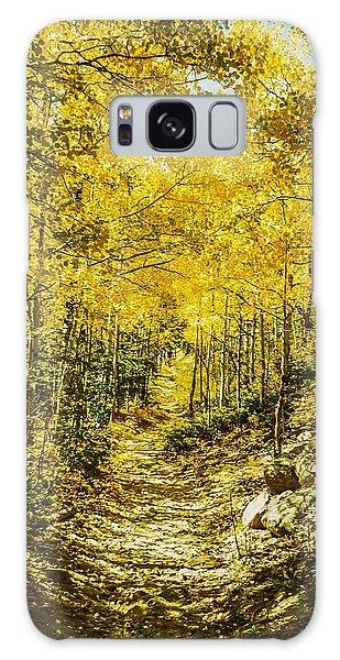 Golden Aspens In Colorado Mountains Galaxy Case