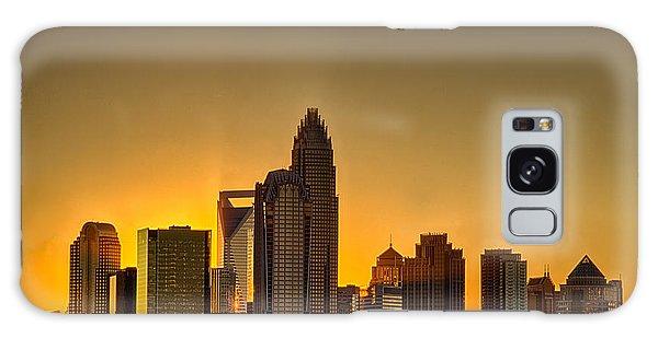 Golden Charlotte Skyline Galaxy Case