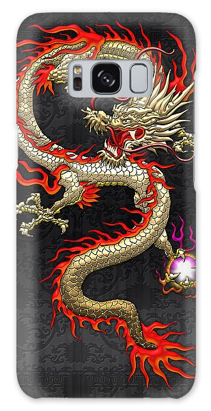 Fantasy Galaxy Case - Golden Chinese Dragon Fucanglong  by Serge Averbukh