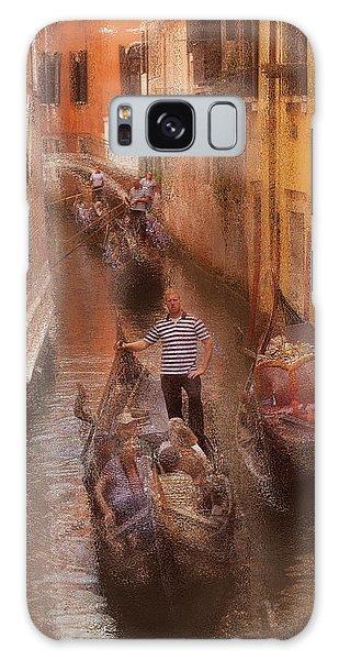 Gondola, Venice Italy Galaxy Case by George Robinson