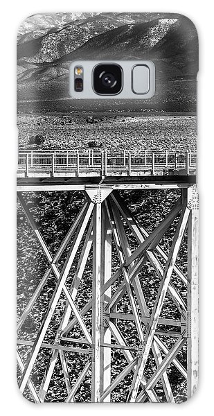 Gorge Bridge Black And White Galaxy Case