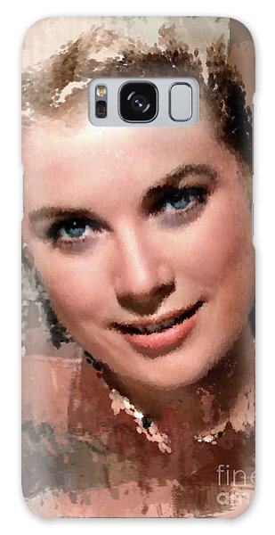 Grace Kelly, Vintage Hollywood Actress Galaxy Case by Mary Bassett