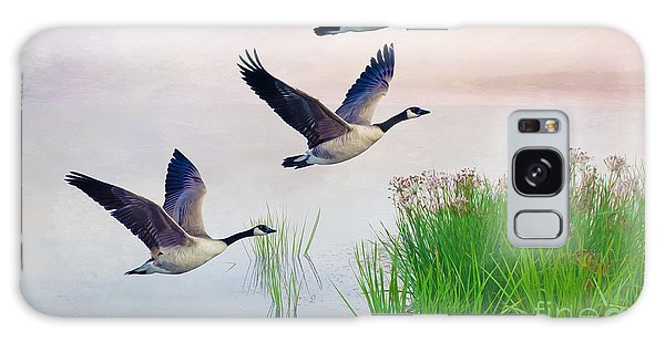 Canada Goose Galaxy Case - Graceful Geese by Laura D Young