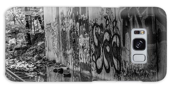 Graffitti And Train Tracks Galaxy Case