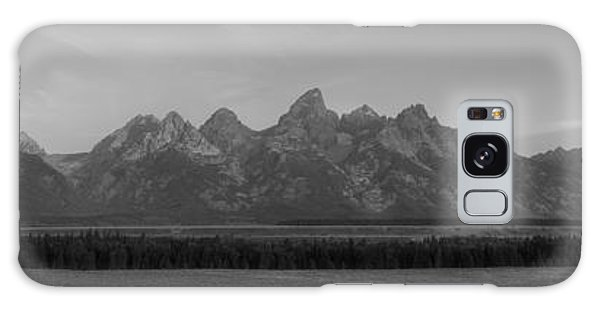 Teton Range Galaxy Case - Grand Teton Mountain Range At Sunrise Panorama by Michael Ver Sprill