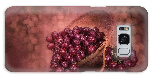 Basket Galaxy Case - Grapes In Wicker Basket by Tom Mc Nemar