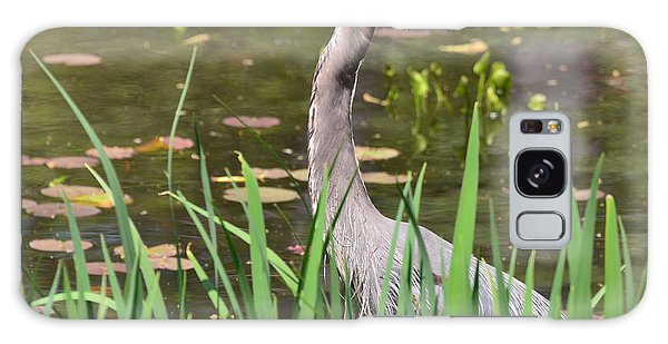 Galaxy Case featuring the photograph Great Blue Heron by Ken Stampfer