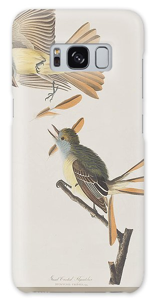 Flycatcher Galaxy Case - Great Crested Flycatcher by John James Audubon
