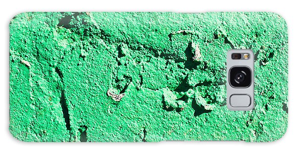 Stone Wall Galaxy Case - Green Background by Tom Gowanlock