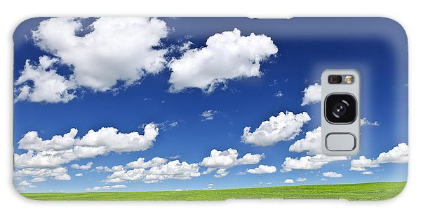 Cloud Galaxy Case - Green Rolling Hills Under Blue Sky by Elena Elisseeva