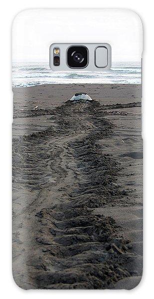Green Sea Turtle Returning To Sea Galaxy Case