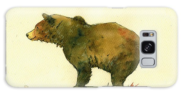 Bear Galaxy S8 Case - Grizzly Bear Watercolor Painting by Juan  Bosco