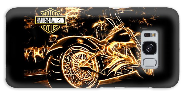 Galaxy Case featuring the photograph Harley-davidson by Aaron Berg