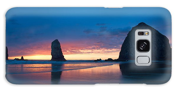 Haystack Rock Galaxy Case by Jerry Cahill