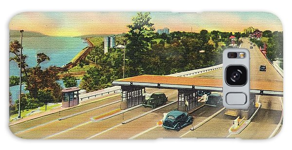 Henry Hudson Bridge Postcard  Galaxy Case