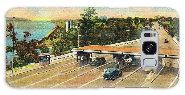 Henry Hudson Bridge Postcard  Galaxy Case by Cole Thompson