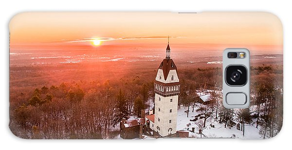 Heublein Tower In Simsbury, Connecticut Galaxy Case by Petr Hejl