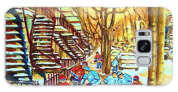 Hockey Game Near Winding Staircases Galaxy Case by Carole Spandau