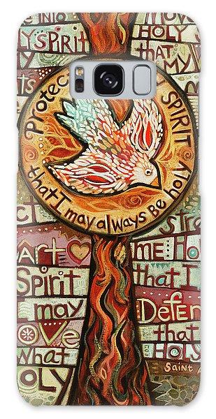 Holy Spirit Prayer By St. Augustine Galaxy Case