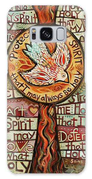 Breathe Galaxy Case - Holy Spirit Prayer By St. Augustine by Jen Norton
